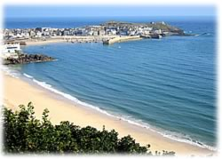 Blick auf St. Ives Cornwall
